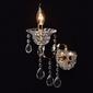 Kinkiet złoty z kryształową podstawą i kroplami mw-light crystal 482023401