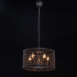 Lampa wisząca, metalowy, ażurowy ornament mw-light country brązowa 249018005