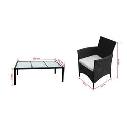 Zestaw ogrodowy stół + krzesła 8 osób priam czarny