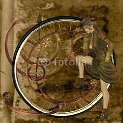 Obraz na płótnie canvas trzyczęściowy tryptyk steampunk
