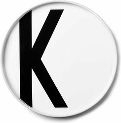 Talerz porcelanowy AJ litera K