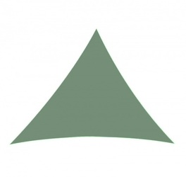 Żagiel przeciwsłoneczny trójkąt zacieniacz 5x5x5 m ciemny zielony