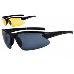Sportowe okulary z dwoma soczewkami polaryzacyjnymi czarna i zolta - drs-51c2