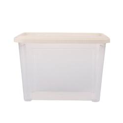 Pojemnik  organizer do przechowywania modułowy tontarelli combi box z pokrywką arianna kremowy 4,6 l