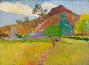 Reprodukcja tahitian landscape, gauguin paul