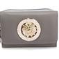 Szary portfel z greckim wzorem i złotym lwem