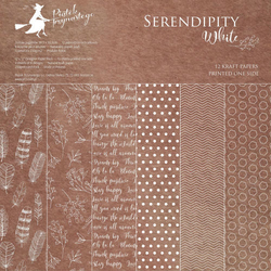 Papier Serendipity White 30,5x30,5 cm - zestaw