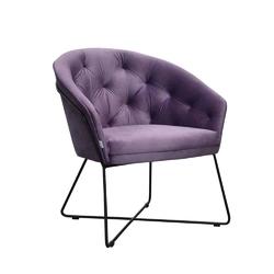 Eleganckie krzesło tapicerowane malaga na krzyżakowej metalowej podstawie