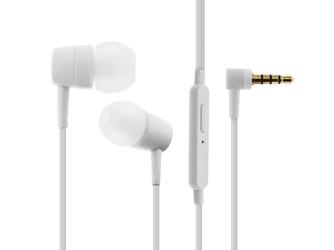 Słuchawki douszne sony mh-750 z mikrofonem kątowe białe - biały