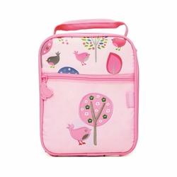 Lunchbox na drugie śniadanie, Ptaszki, różowy, Penny Scallan