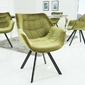 Krzesło velot zielone welur