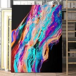 Modny obraz na płótnie - colourful lava , wymiary - 115cm x 170cm