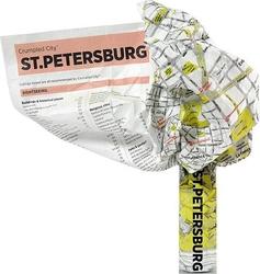 Mapa crumpled city petersburg