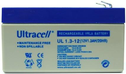 Akumulator agm ultracell ul 12v 1.3ah żelowy - szybka dostawa lub możliwość odbioru w 39 miastach