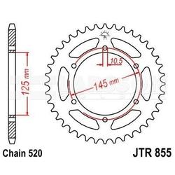 Zębatka tylna stalowa jt 855-45, 45z, rozmiar 520 2301998 yamaha xtz 750