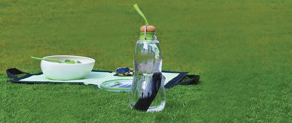 Butelka na wodę z filtrem węglowym eau good black blum seledynowa eg002