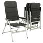 Zestaw 4 krzeseł kempingowych,składane, aluminiowe