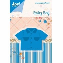 Ozdobny wykrojnik baby boy - koszula - 0210