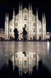 Mediolan, katedra - plakat premium wymiar do wyboru: 42x59,4 cm
