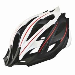 Kask rowerowy ozone mb-03 czarno-biało-czerwony
