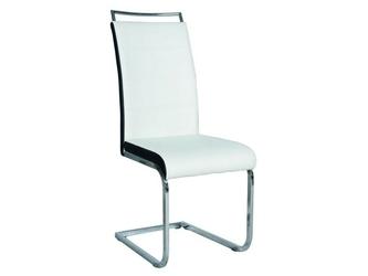 Krzesło soliera biało-czarne