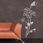 Kwiaty motyl 1236 naklejka