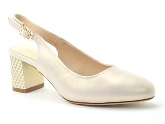Sandały sergio leone sk790 beżowy perła