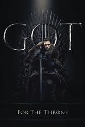 Game of thrones jon for the throne - plakat