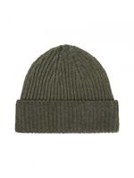 Wełniana zimowa czapka khaki