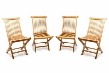 zestaw 4 krzeseł ogrodowych z drewna tekowego składane krzesło drewniane krzesło balkonowe 46x89x62 cm