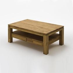Ramzej dębowy stolik kawowy z dwoma szufladami
