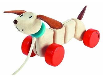 Szczęśliwy piesek zabawka do ciągnięcia