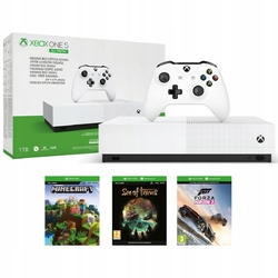 Konsola xbox one s 1tb all-digital edition + minecraft + sea of thieves + forza horizon 3