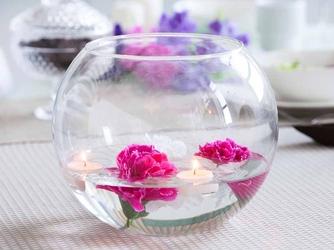 Wazon kula szklany na kwiaty edwanex średnica 24 cm