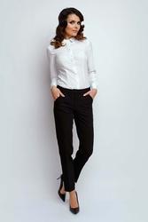 Czarne klasyczne materiałowe spodnie w kant