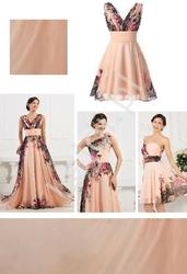 Szyfonowy szal koralowo różowy do sukni kwiatowej