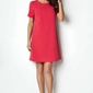 Czerwona sukienka rozkloszowana klasyczna