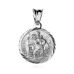 Srebrny medalik pr.925 - święty krzysztof