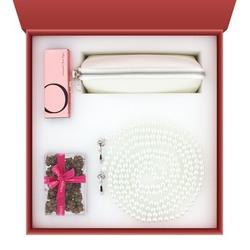 Sexshop - zestaw akcesoriów erotycznych cinqcinq - edition valentine passion  pearls z wibratorem i kajdankami - online