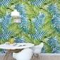 Turquoise jungle - tapeta na ścianę , rodzaj - tapeta flizelinowa laminowana