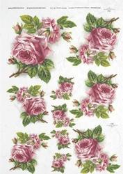 Papier ryżowy itd a4 r222 róże