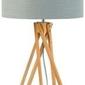 Goodmojo :: lampa stołowa kilimanjaro 5-nożna 34cm abażur 32x20cm, lniany jasnoszary