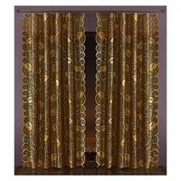 Tkanina złote liście szerokość 145 cm