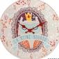 Drewniany zegar ścienny 30cm królowa sowa