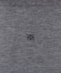 Eleganckie bawełniane gładkie skarpety burlington w kolorze szarym rozmiar 40-46