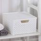 Koszyk  pojemnik do przechowywania duży z pokrywą tontarelli arianna biały