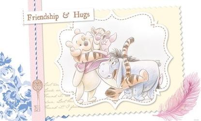 Kubuś puchatek i przyjaciele przytulanie - fototapeta