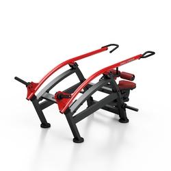 Maszyna na wolny ciężar do pompek rzymskich w pozycji siedzącej mf-u009 - marbo sport - bordowy  antracyt metalic