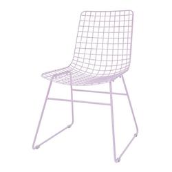 Hkliving krzesło metalowe wire liliowe mzm4793