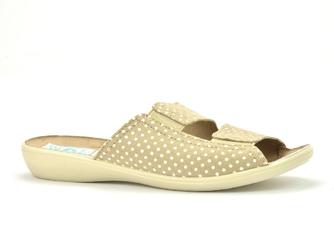 Pantofle  adanex 22862 beżowe